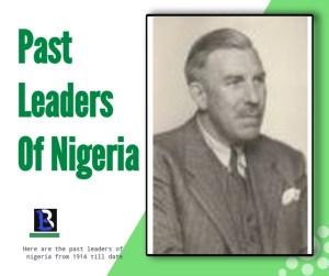 list Colonial leaders of Nigeria