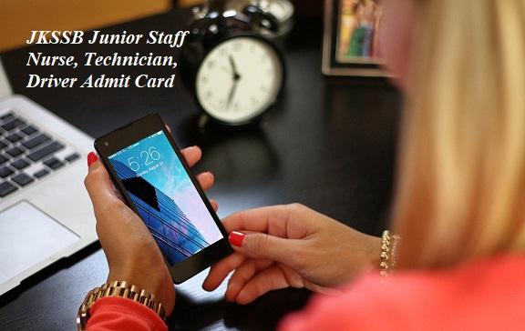 JKSSB Junior Staff Nurse Admit Card 2021