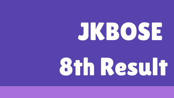 JKBOSE 8th Result 2021