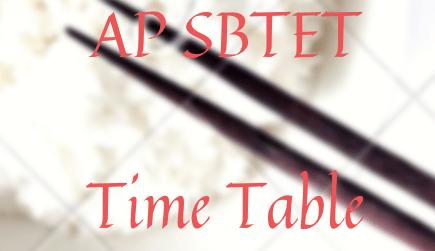 एपी एसबीटीईटी टाइम टेबल 2021