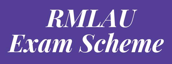 rmlau exam scheme 2021
