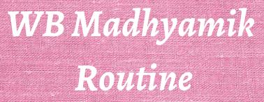 wb madhyamik routine 2021
