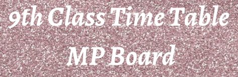 9th Class Time Table 2022 MP Board