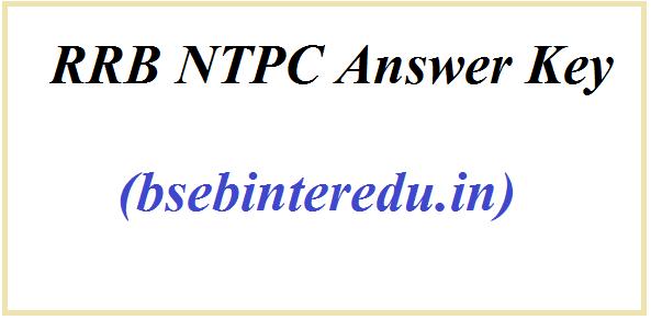 आरआरबी एनटीपीसी उत्तर कुंजी 2021