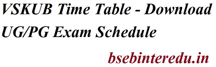 VSKUB Time Table 2021