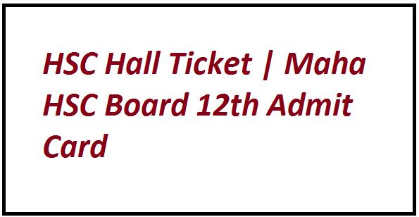 HSC Hall Ticket 2021