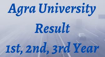 agra university result 2021
