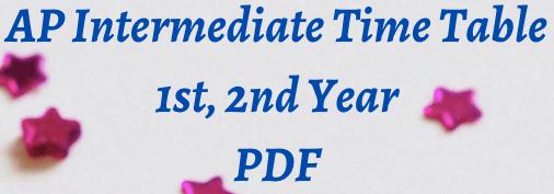 ap intermediate time table 2021