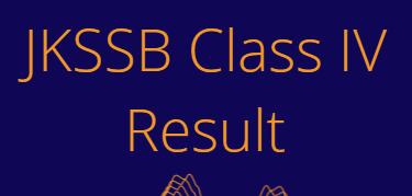 JKSSB Class IV Result 2021