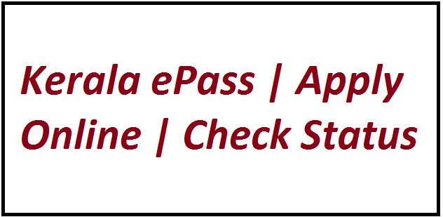 Kerala ePass Apply Online