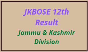 JKBOSE 12th Result 2021