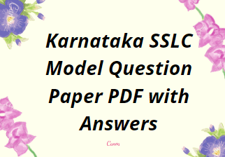 SSLC Model Question Paper Karnataka