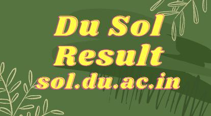 DU SOL Result 2021