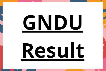 GNDU Result 2021