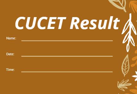 सीयूसीईटी परिणाम 2021