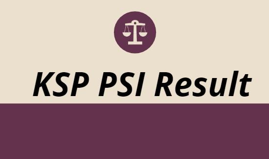 KSP PSI Result 2021