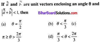 Bihar Board 12th Maths Objective Answers Chapter 10 Vector Algebra Q20