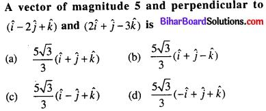 Bihar Board 12th Maths Objective Answers Chapter 10 Vector Algebra Q44