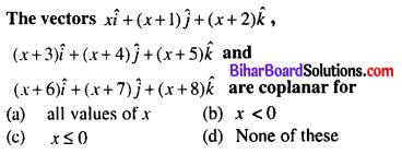 Bihar Board 12th Maths Objective Answers Chapter 10 Vector Algebra Q63