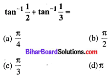 Bihar Board 12th Maths Objective Answers Chapter 2 प्रतिलोम त्रिकोणमितीय फलन Q8