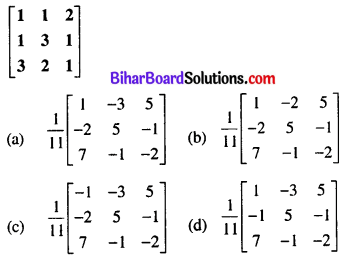 Bihar Board 12th Maths Objective Answers Chapter 3 Matrices Q31