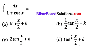 Bihar Board 12th Maths Objective Answers Chapter 7 समाकलन Q43
