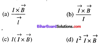 Bihar Board 12th Physics Objective Answers Chapter 4 गतिमान आवेश और चुम्बकत्व - 1
