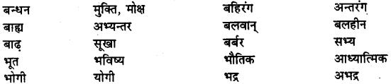 Bihar Board Class 12th Hindi व्याकरण विलोम या विपरीतार्थक शब्द 12