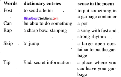 The Recycling Rap Poem Questions And Answers Bihar Board Class 8