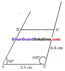 Bihar Board Class 8 Maths Solutions Chapter 7 ज्यामितीय आकृतियों की रचना Ex 7.4 Q3