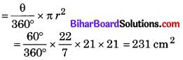 Bihar Board Class 10 Maths Solutions Chapter 12 वृतों से संबंधित क्षेत्रफल Ex 12.2 Q5.1