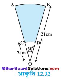 Bihar Board Class 10 Maths Solutions Chapter 12 वृतों से संबंधित क्षेत्रफल Ex 12.3 Q14