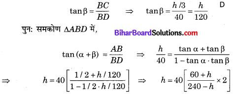 Bihar Board Class 10 Maths Solutions Chapter 9 त्रिकोणमिति के कुछ अनुप्रयोग Additional Questions LAQ 7.1
