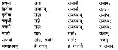 Bihar Board Class 7 Sanskrit व्याकरण शब्दरूपाणि 10