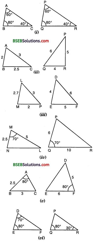 Bihar Board Class 10th Maths Solutions Chapter 6 Triangles Ex 6.3 1