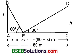 Bihar Board Class 10th Maths Solutions Chapter 9 Some Applications of Trigonometry Ex 9.1 11