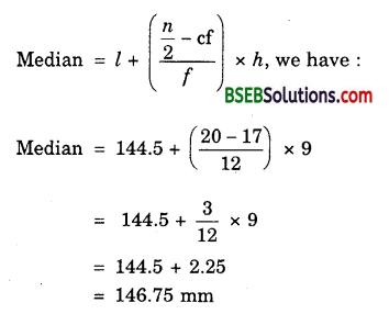 Bihar Board Class 10th Maths Solutions Chapter 14 Statistics Ex 14.3 13