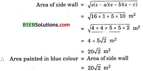 Bihar Board Class 9th Maths Solutions Chapter 12 Heron's Formula Ex 12.1 6