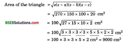 Bihar Board Class 9th Maths Solutions Chapter 12 Heron's Formula Ex 12.1 8