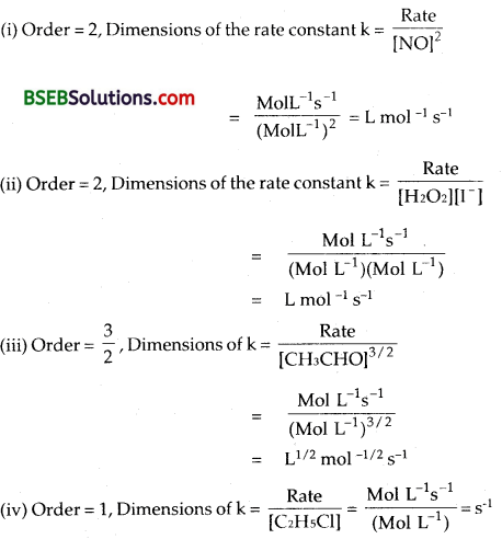 Bihar Board Class 12 Chemistry Solutions Chapter 4 Chemical Kinetics 6