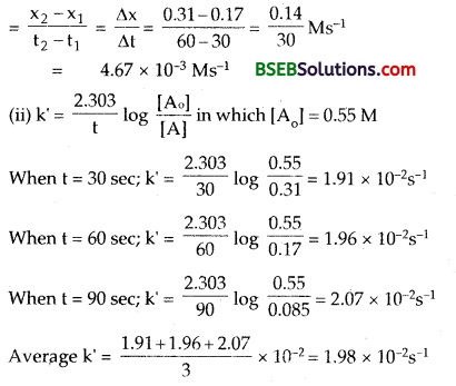 Bihar Board Class 12 Chemistry Solutions Chapter 4 Chemical Kinetics 9