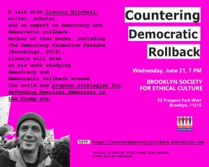 Countering Democratic Rollback @ Brooklyn Society for Ethical Culture