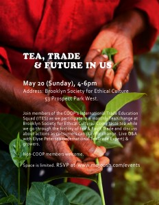 Tea, Trade, Future in Us @ Brooklyn Society for Ethical Culture - Library