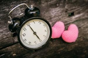 Love clock at 6 o`clock, Time of sweet loving pass memories.