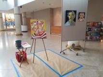 "Obras de arte del artista ""Tukis""Jimenez en el Gran Salón Triple S del MAPR."