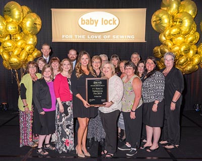 The B-Sew Inn team has been the # 1 Baby Lock Retailer since 1994!