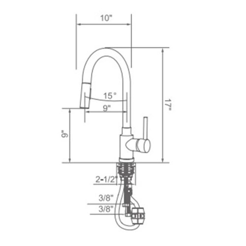 single pull down kitchen faucet