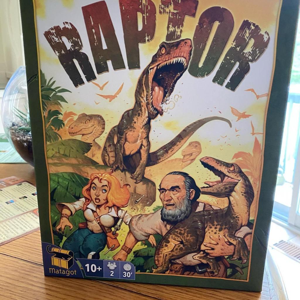 Raptor board game box