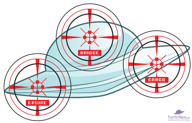 Alien ship target