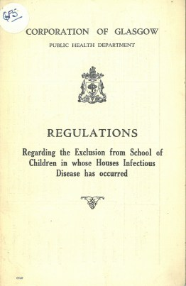Regulations on excluding from school children exposed to infectious diseases, 1931 (ref: D-HE/1/5/37)